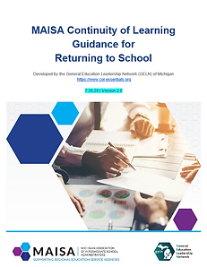 MAISA Continuity of Learning Guidance document cover page