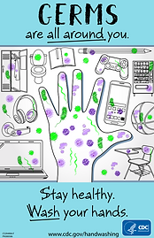 CDC Germs Are All Around You poster