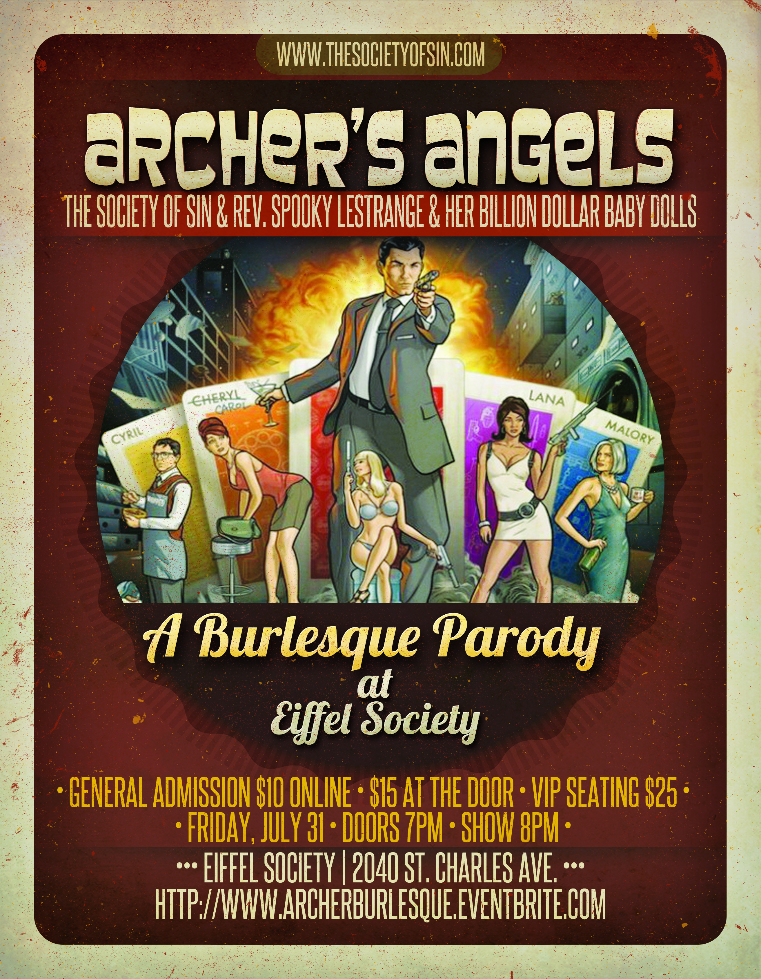 Archer's Angels Burlesque Parody