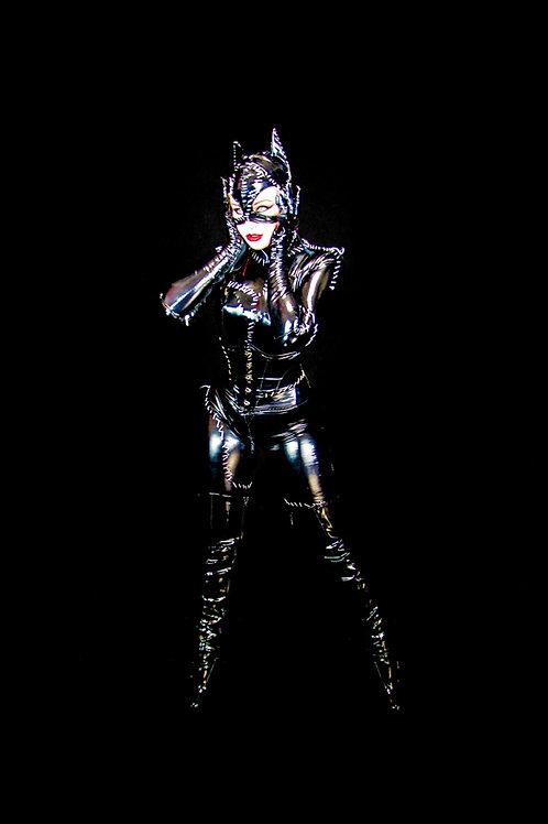 Xena Zeit-Geist Catwoman Full Body Black Sticker