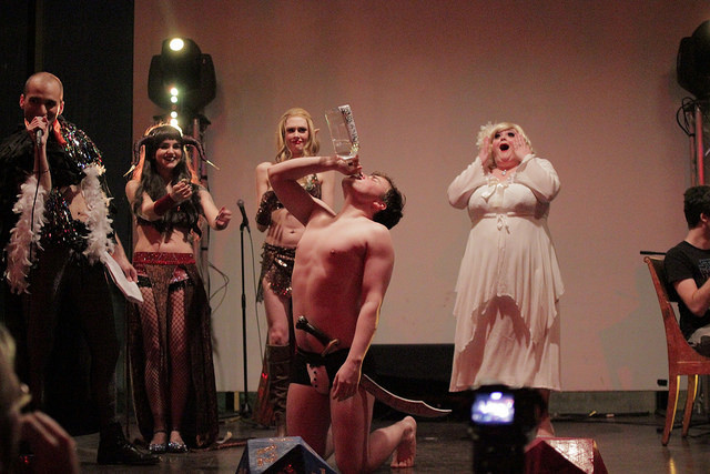The Society of Sin's Dungeons & Dragon Queens: A Live Action Pen & Pasties Burlesque RPG in New Orleans. Performers: Stevie Poundcake, Xena Zeit-Geist, Cherry Bombshell, Pappa Razzi, Queenie O'Hart