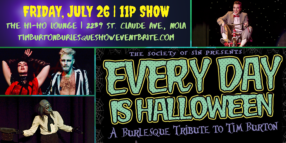 Every Day Is Halloween: A Tim Burton-Inspired Burlesque Show