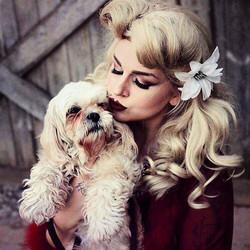 _lushboudoir _Me & sweet pup Ravioli at