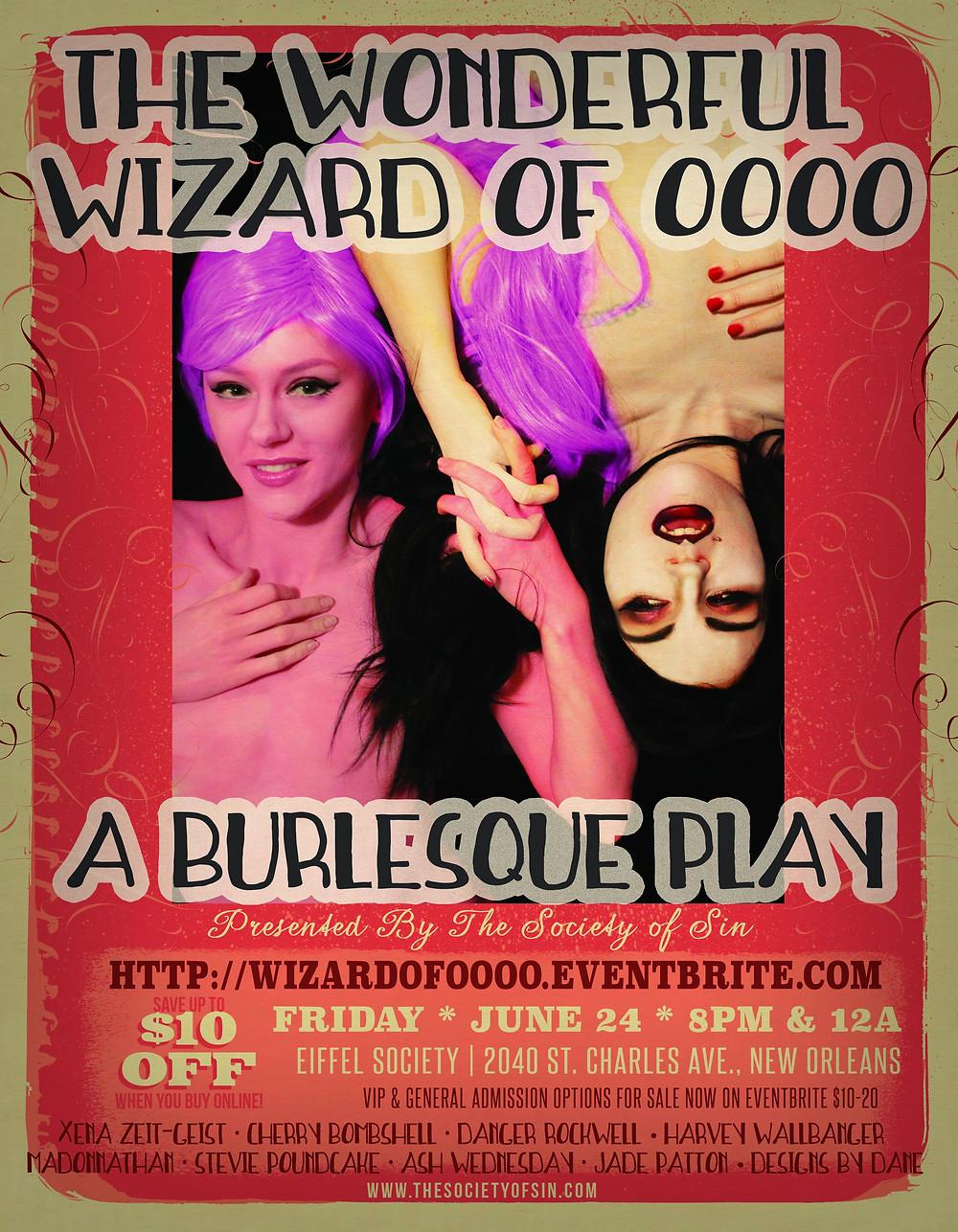 new orleans burlesque nerdlesque xena zeit-geist cherry bombshell