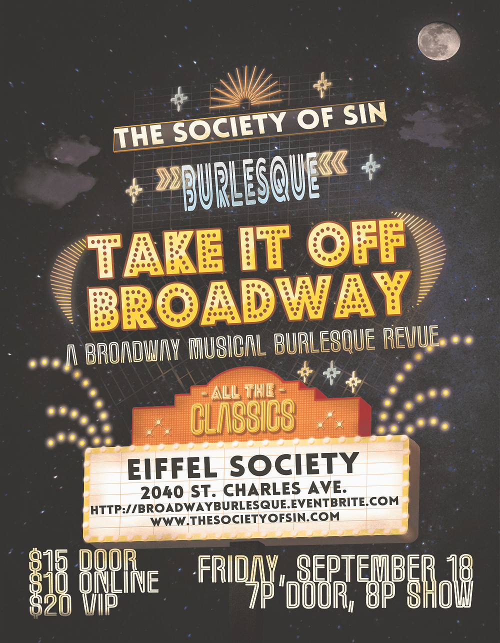New Orleans Burlesque The Society of Sin Take It Off Broadway