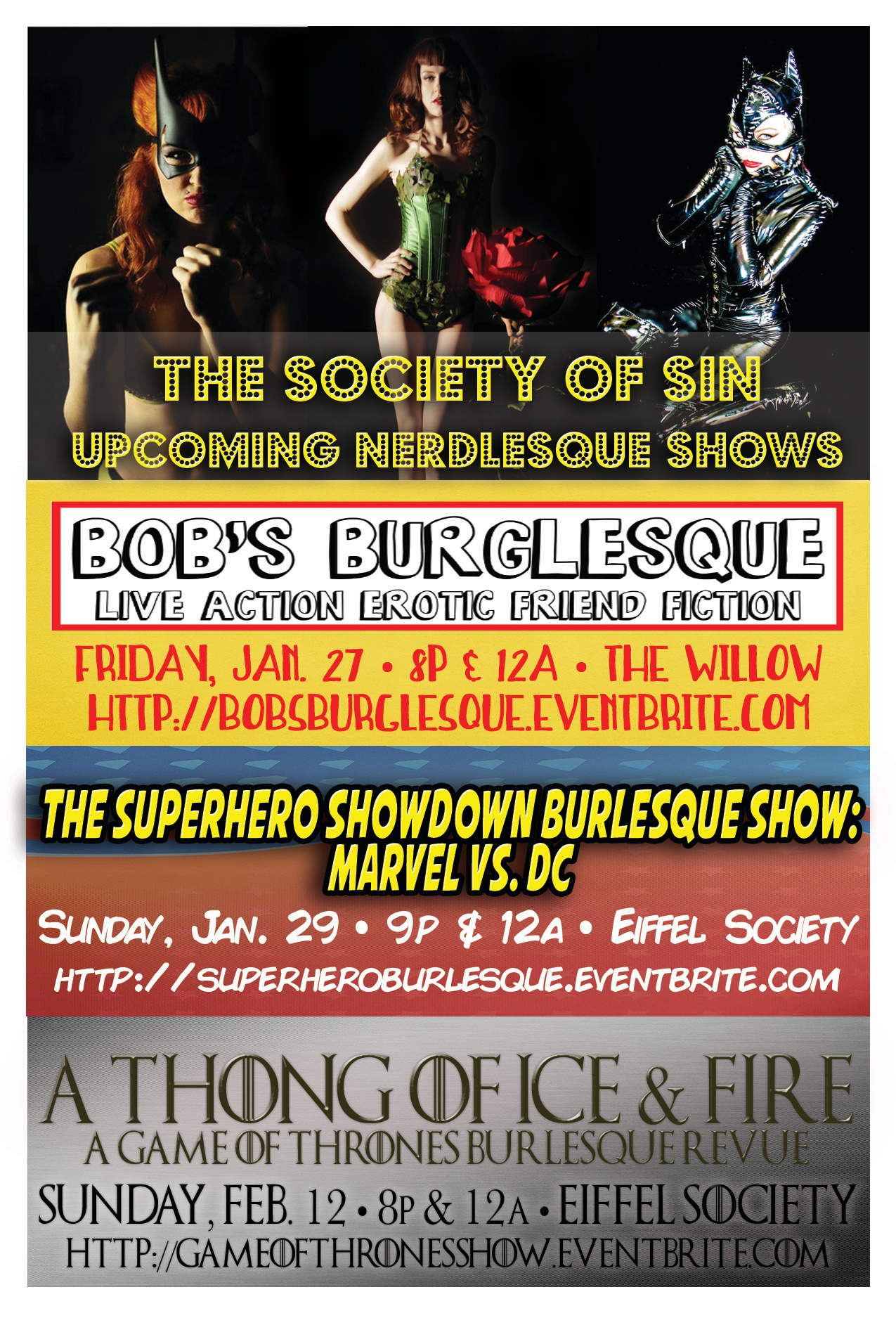 Shows United States The Society Of Sin Burlesque Amp Variety
