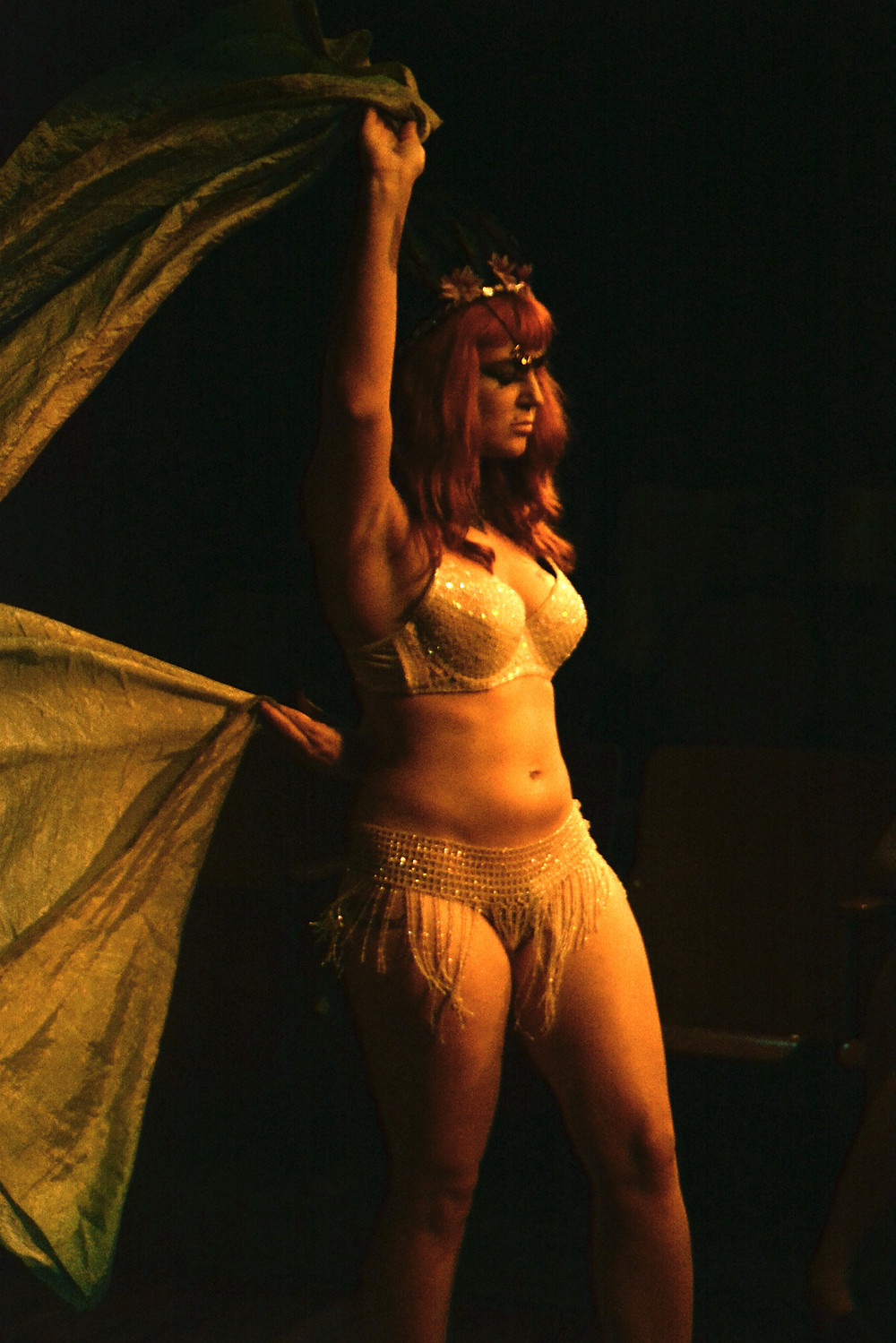 Xena Zeit-Geist as Titania in A Midsummer Night's Wet Dream in New Orleans Fringe Fest