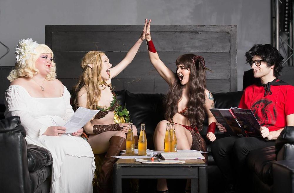 The Society of Sin Dungeons & Dragon Queens Burlesque Xena Zeit-Geist Cherry Bombshell Stevie Poundcake Queenie O'Hart