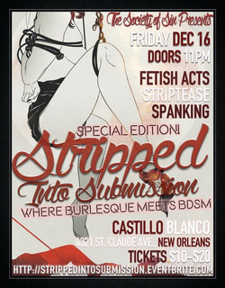 Stripped Into Submission Burlesque