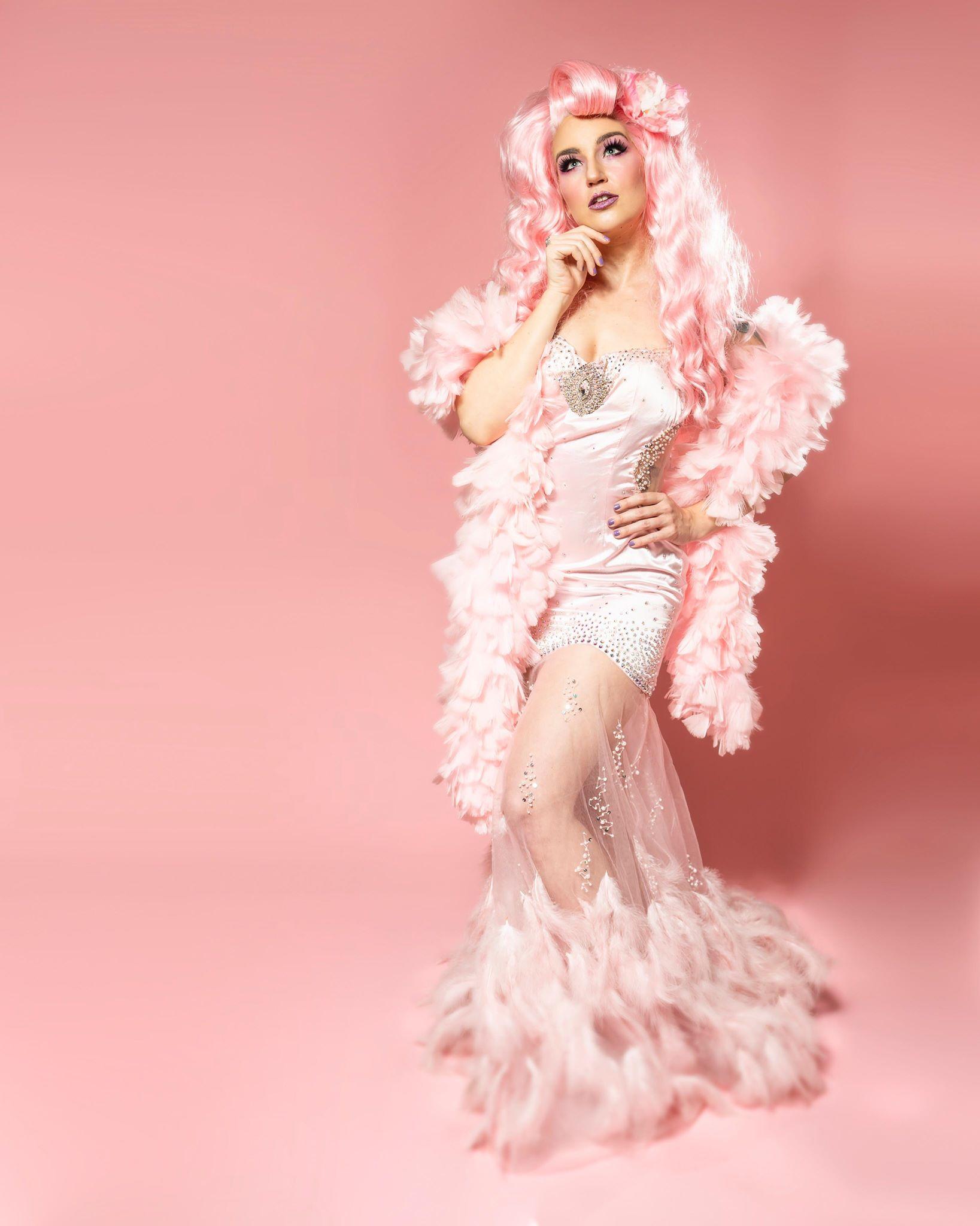 Xena Zeit-Geist Burlesque Pink Gown