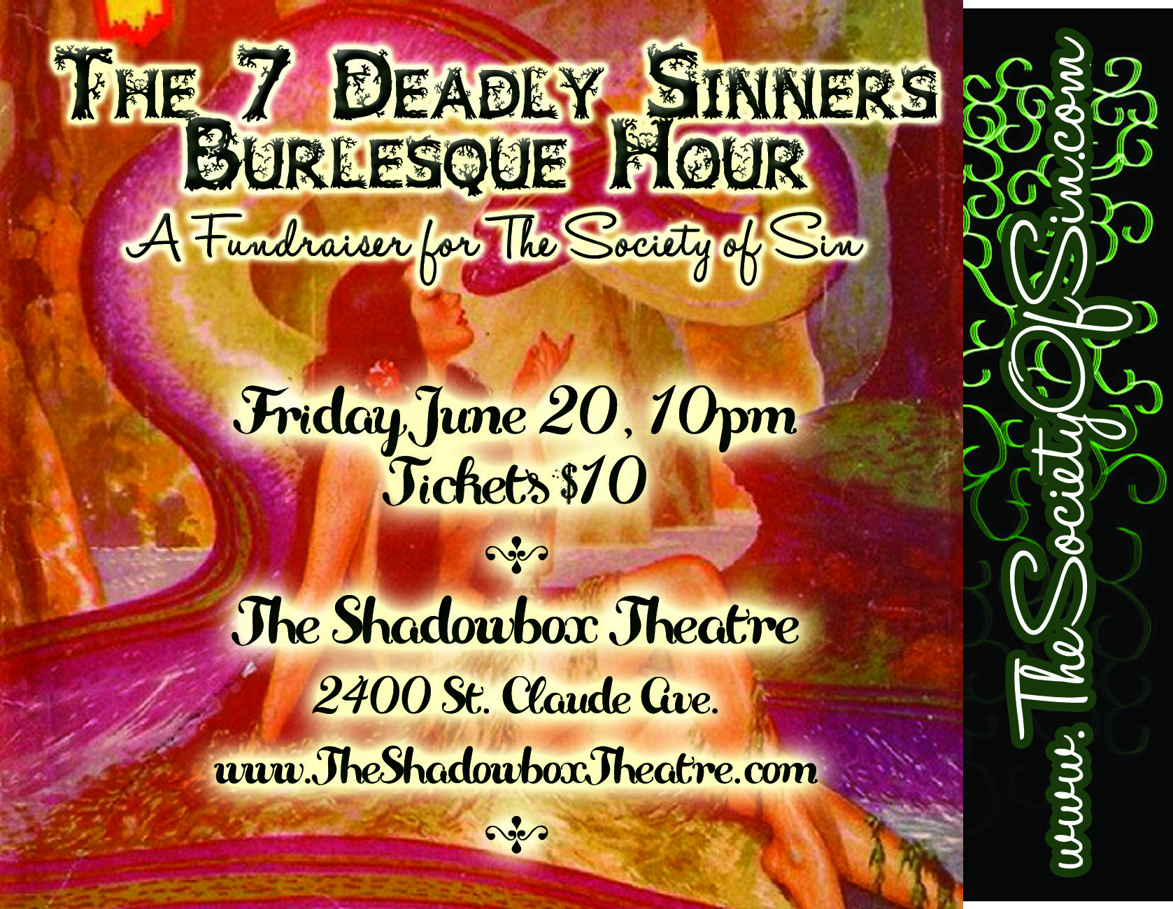 The 7 Deadly Sinners Burlesque Hour