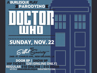 Next Two Burlesque Plays Announced—Dr. Who & Star Wars