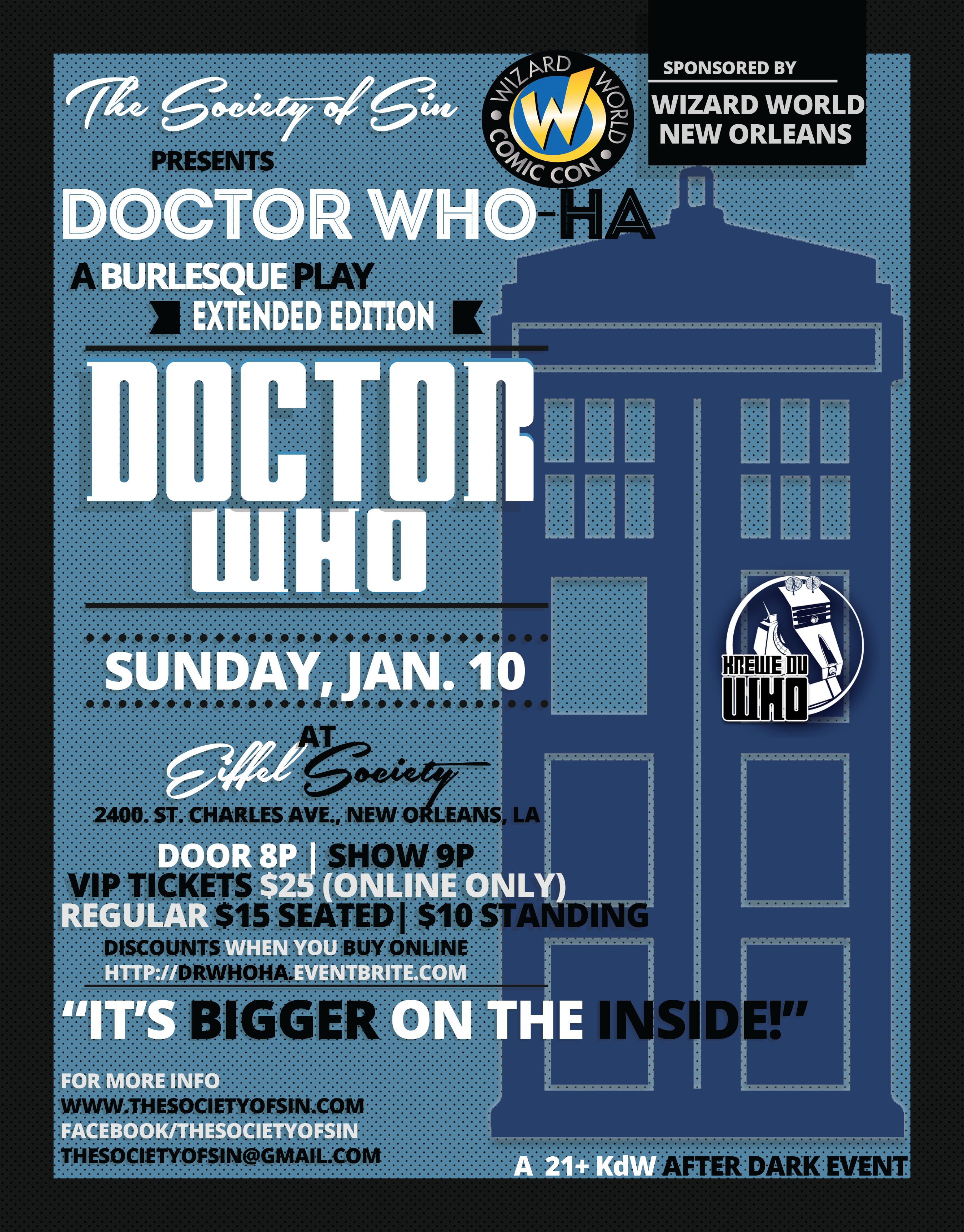 Doctor Who-Ha: A Burlesque Play