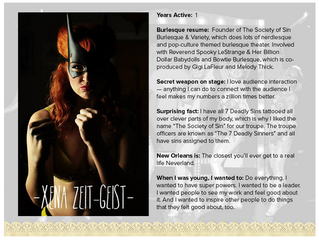 Society of Sin Leader Featured in GoNola Article about New Orleans Burlesque