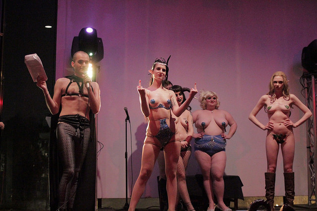 The Society of Sin's Dungeons & Dragon Queens: A Live Action Pen & Pasties Burlesque RPG in New Orleans. Performers: Stevie Poundcake, Darling Darla James, Queenie O'Hart, Cherry Bombshell.