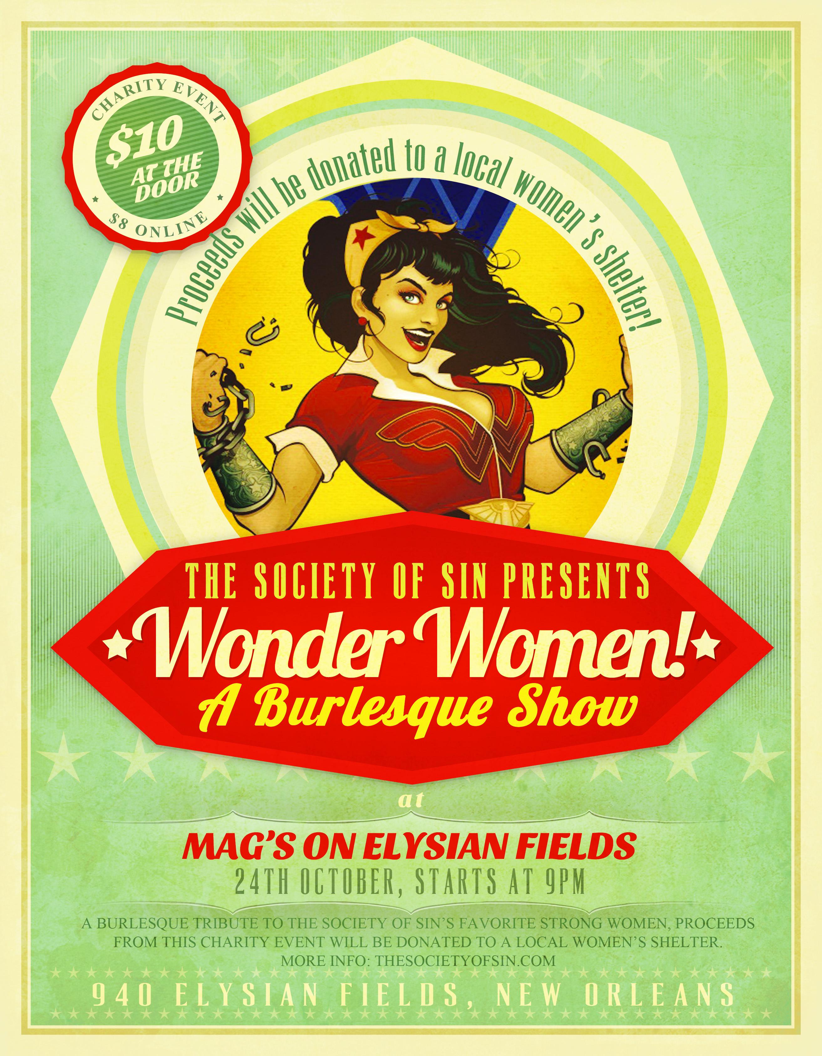 Wonder Women! Burlesque Benefit