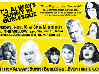 """Society of Sin Returns to the Stage with """"Always Sunny"""" Burlesque Parody"""
