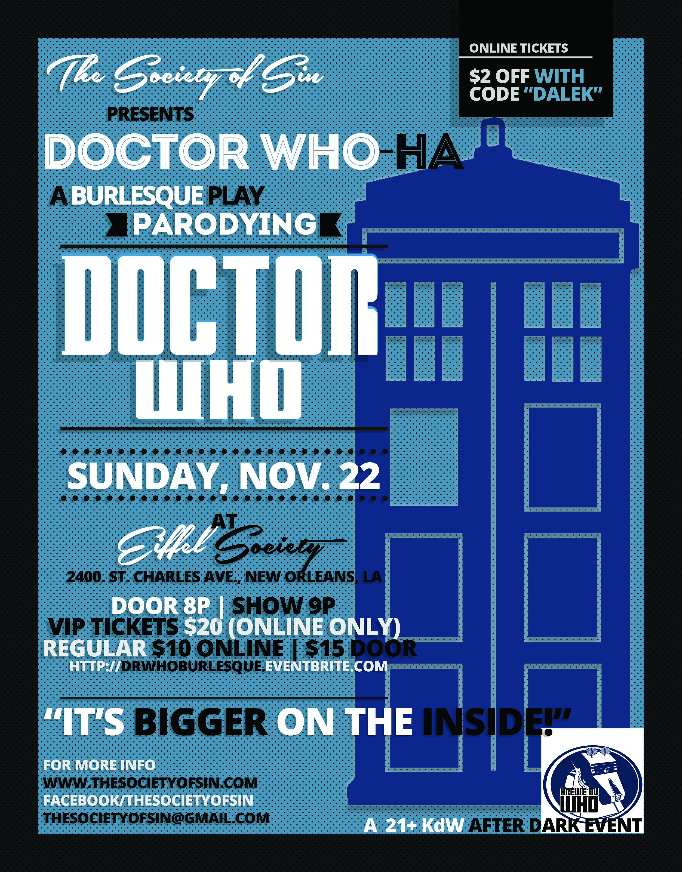 Doctor Who Flyer