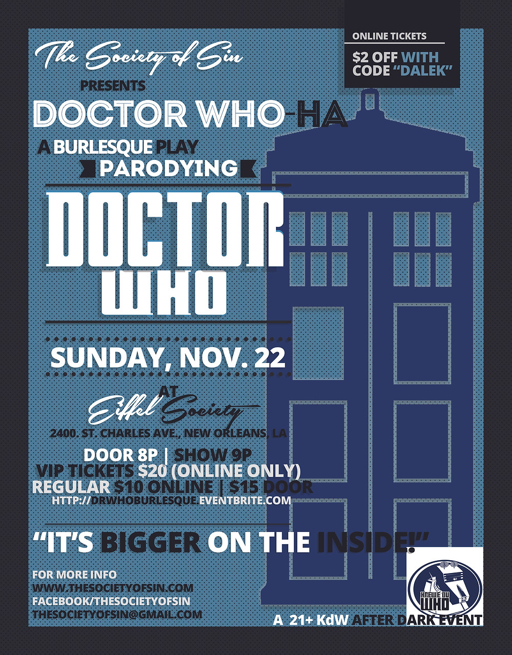 Doctor Who-Ha Nerdlesque New Orleans Burlesque