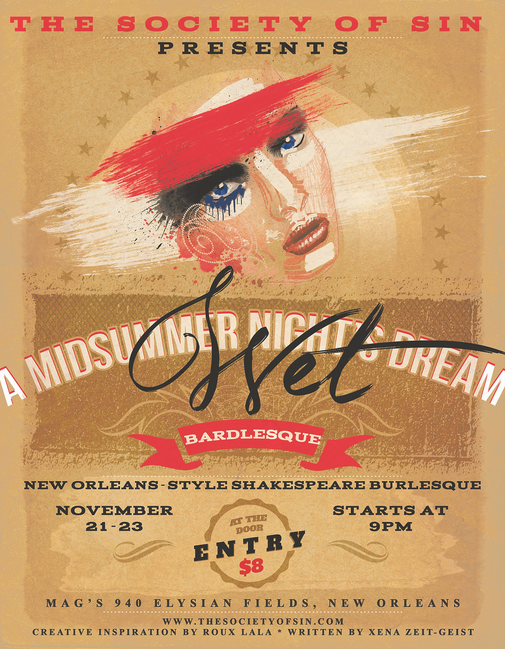 A Midsummer Night's Wet Dream New Orleans Shakespeare Burlesque The Society of Sin
