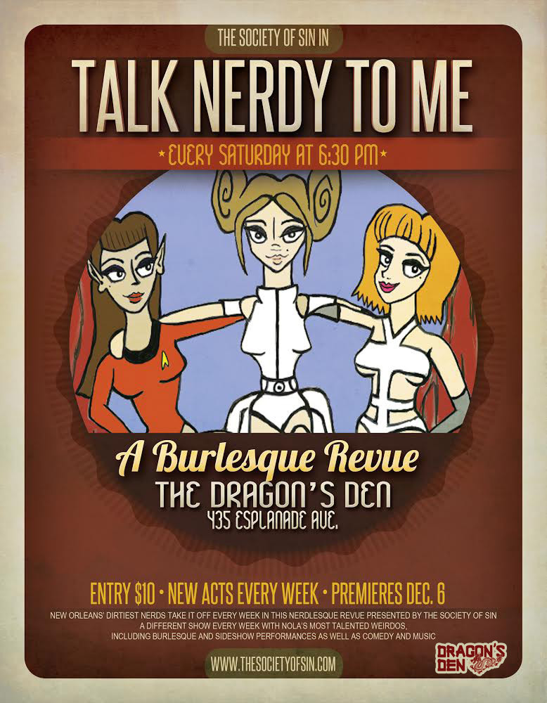 Talk Nerdy To Me Weekly Nerdlesque Revue at The Dragon's Den New Orleans Burlesque