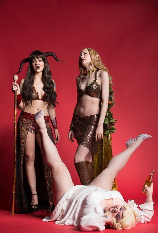 The Society of Sin Dungeons & Dragon Queens Burlesque Xena Zeit-Geist Cherry Bombshell Queenie O'Hart