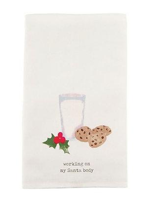 MILK & COOKIES CHRISTMAS TEA TOWEL