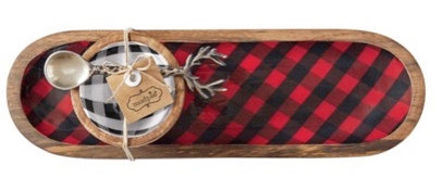 BUFFALO CHECK DIP TRAY SET