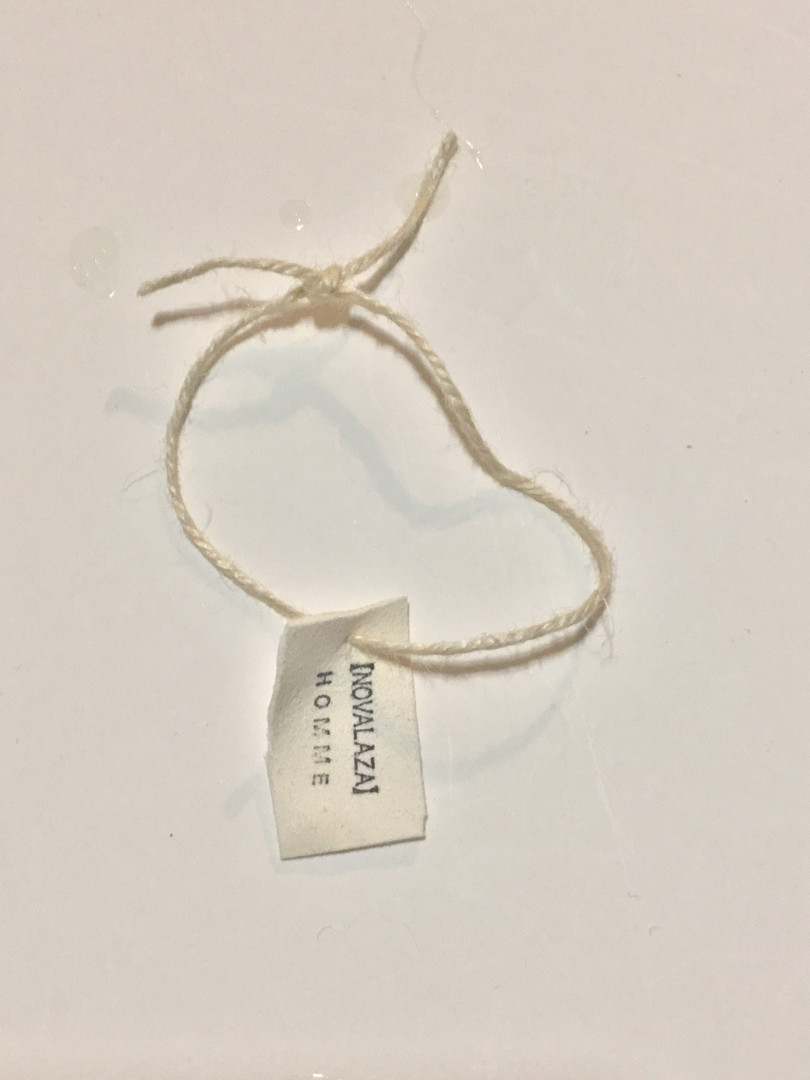 Jute bracelet (Deerskin )