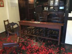 cafe desk, rose