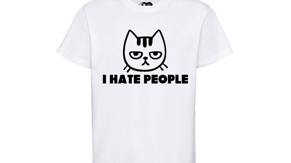 Cat 'I Hate People' Tee, Cat Lover, Gift