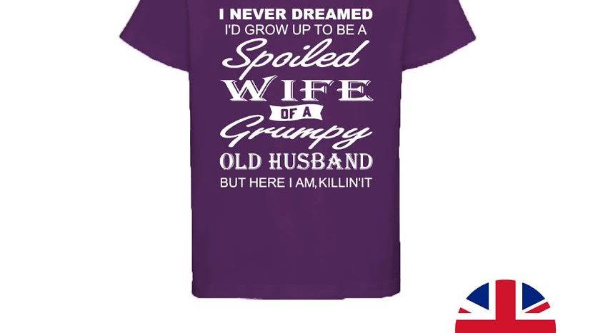 Personalised Custom Printed T-Shirt 'Spoiled Wife'