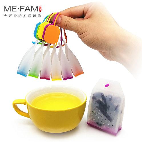 MARKCRAIGFX Colorful Jelly Silicone Tea Bag Reusable Tea-Leaves Infuser