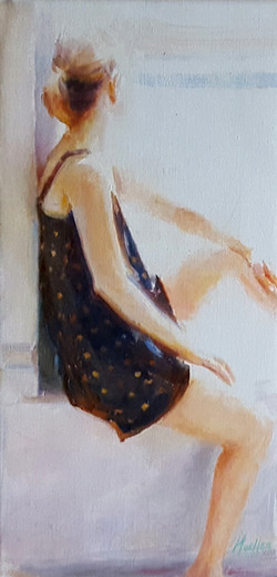 SOLD! - Polka Dots 16 x 7""