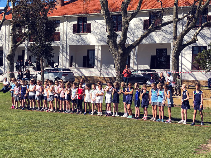 Off The Mark young athletes at Inter Schools Cross Country