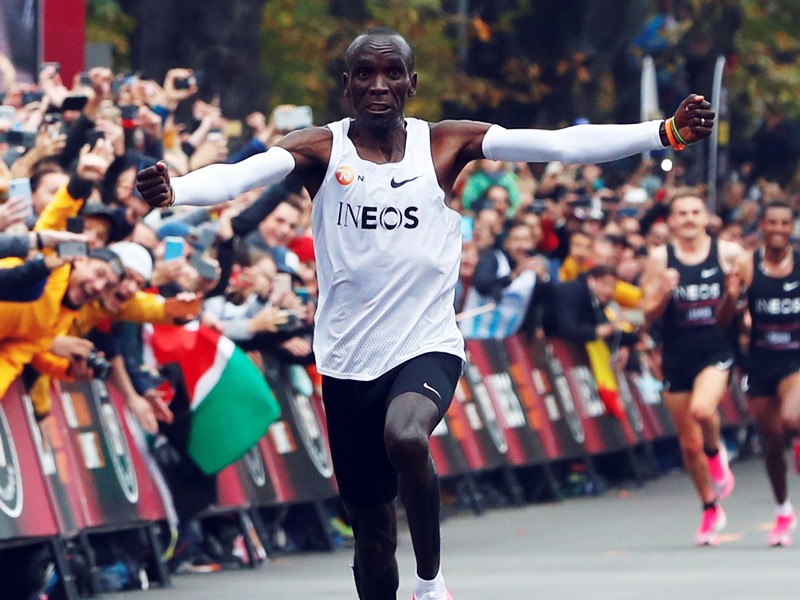 Eliud Kipchoge breaking the 2hr barrier in Austria
