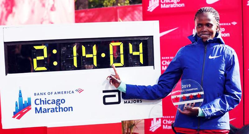 Brigid Kosgei breaks Paula Radcliff's 16yr old marathon record