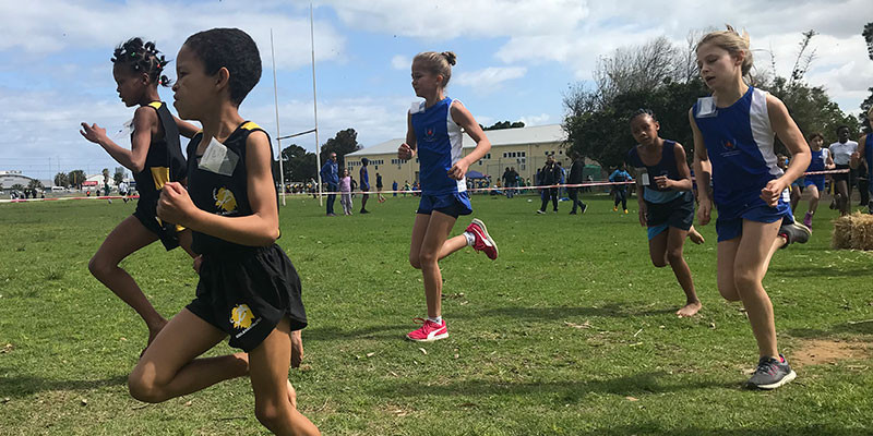 Off The Mark young athlete in action at Western Cape Schools Cross Country Champs