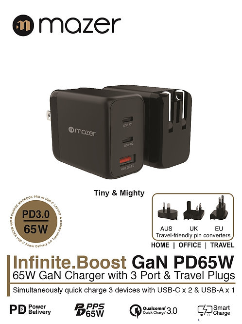 Infinite.BOOST SuperMINI GaN PD65W Charger