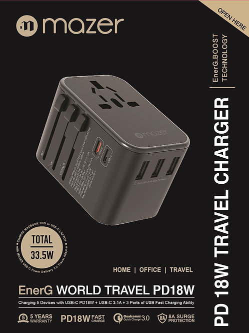 Power.WORLD TRAVEL Dual PD