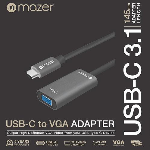 MAZER USB-C to VGA FULL HD 1080P Video Adapter