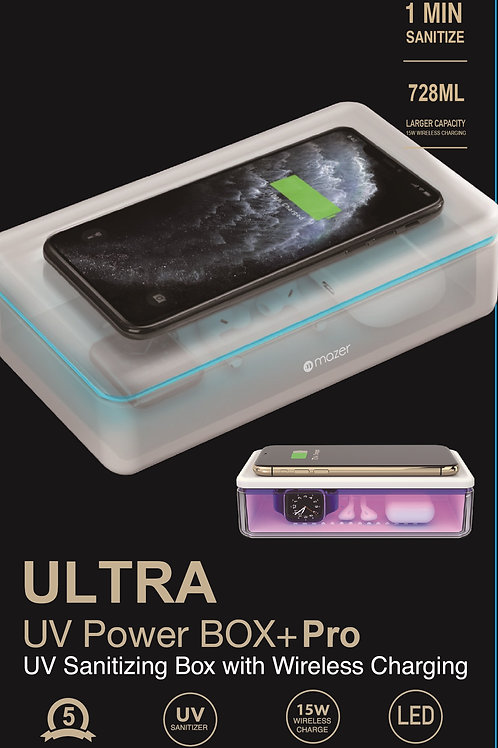 Larger 738ML Capacity UV Sanitizing Box with 15W Wireless Charging