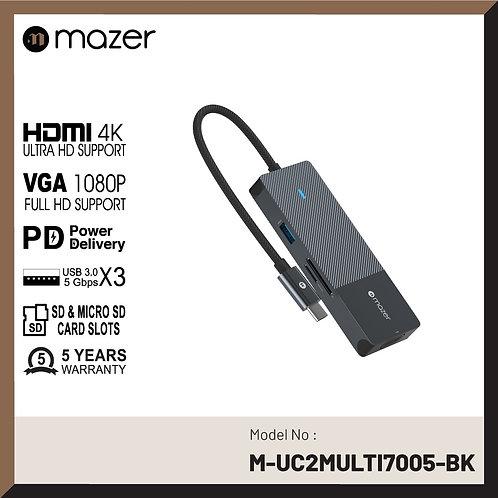 USB-C Multimedia Pro Hub 8-in-1 Black Edition