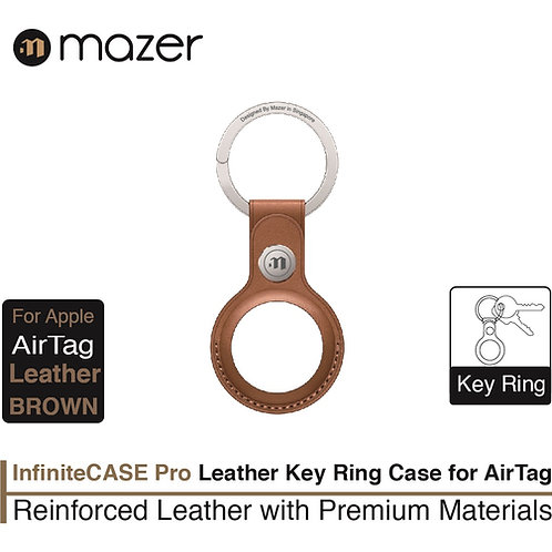 MazerAirTag Leather KeyRing Case