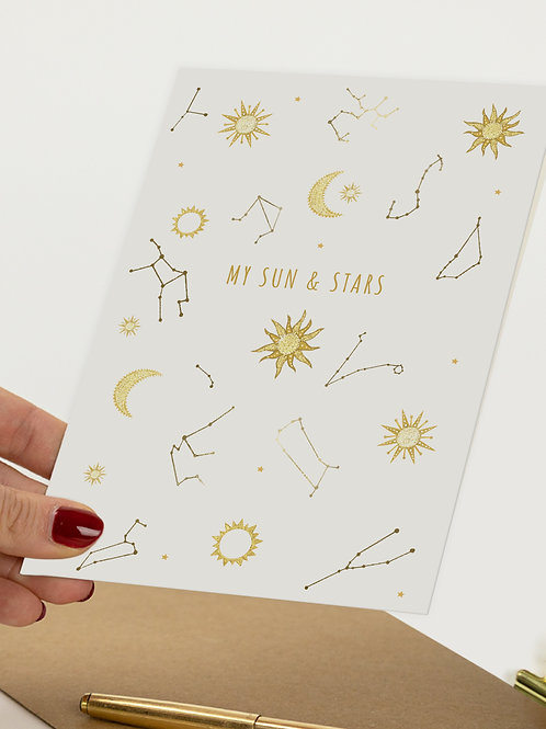My Sun and Stars Greetings Card