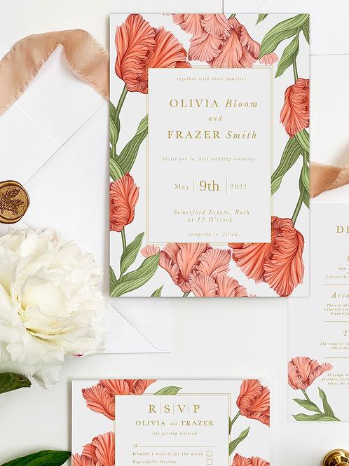 A5 Invitation - Tulipa
