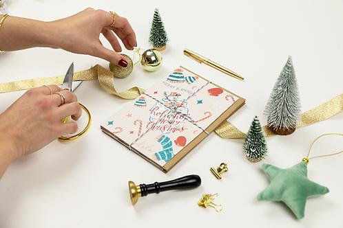 Assorted Christmas Cards   Pack of 4   Retro