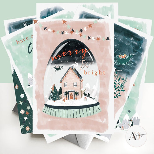Christmas Cards | Assorted Pack fo 6 | Nordic Dream | Christmas Gifts