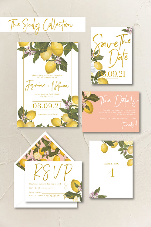 The Sicily Collection - Invitation Bundle