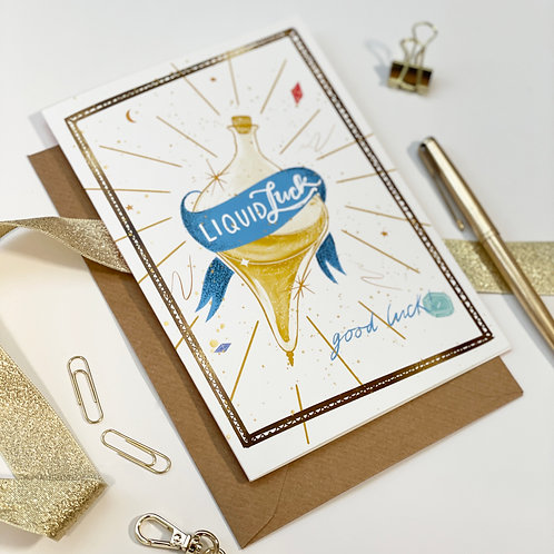 Liquid Luck Greetings Card